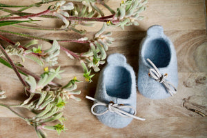 Sydney Sneakers - 100% wool felted custom made baby shoes