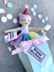 Custom made to order Dottie Days tiny Happy Birthday doll