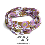 MelyndaMade Adult Infinity Scarf - Upcycled Purple Floral