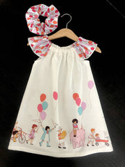"Summer ""seaside"" dresses - 2 colours available (with free scrunchie)"