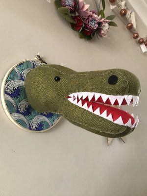 Crocodile faux taxidermy