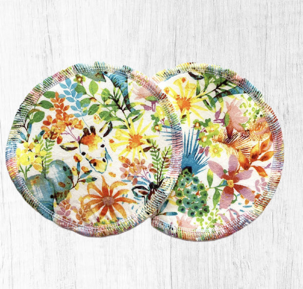 Reusable Breast Pads / Nursing Pads, Set of 5 ~ Brights