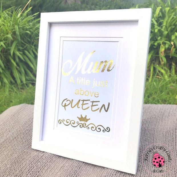 FOILED QUOTE FRAME