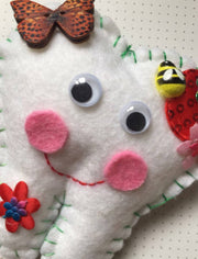 Personalised Strawberry tooth fairy pillow