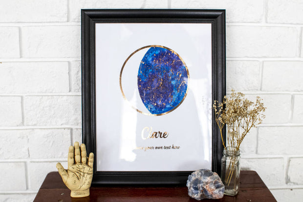MARKET SALE - Custom Ink and Foil Moon