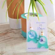 Ocean Wave Shell Earrings