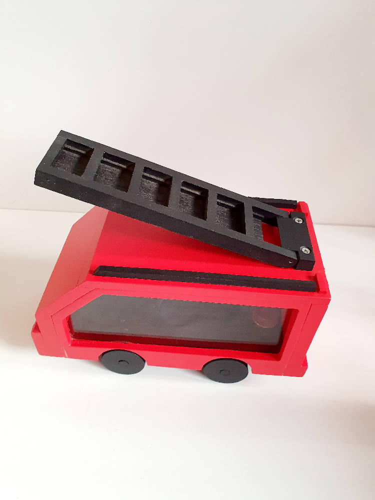 Made to Order Interactive Fire Truck Money Box