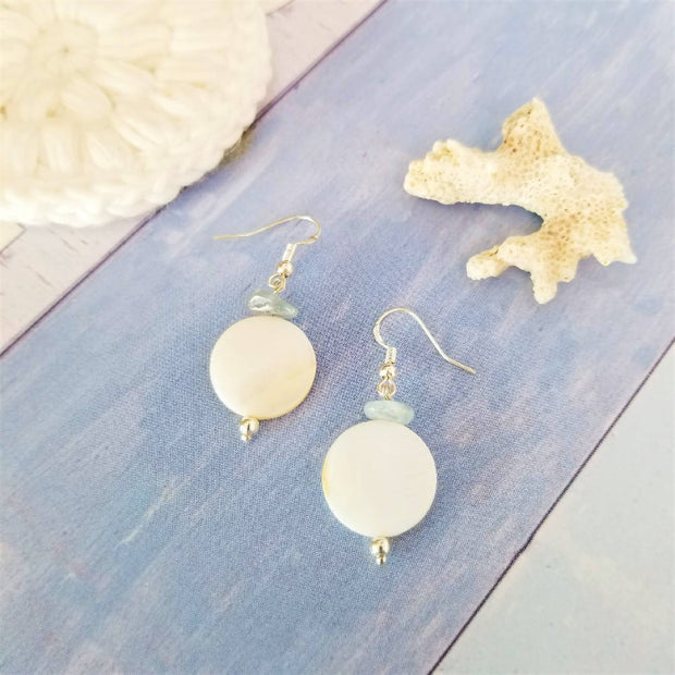Sale! Coral Shell Crystal Earrings