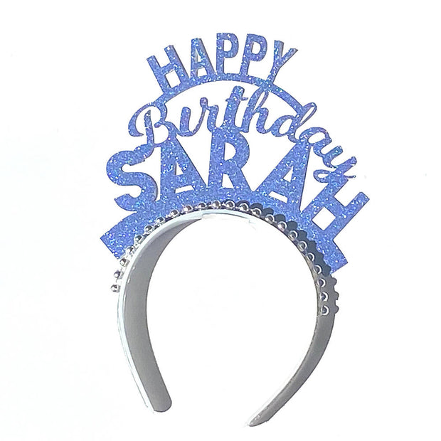 Custom Birthday party headband/ add any name