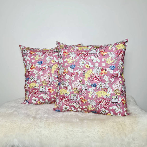 May Gibbs gumnut friends Cushion Cover (18inch) in pink.