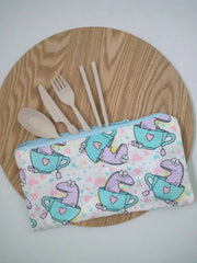 Reusable cutlery pouch