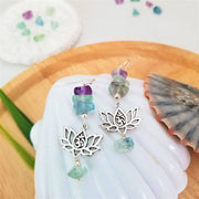 Lotus Omh Crystal Earrings