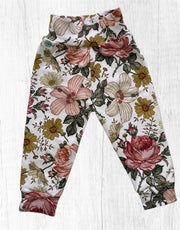 Girls Floral Yoga Cuffed Pants