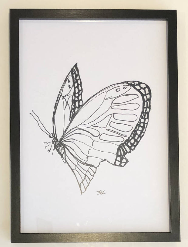 Butterfly 2 Black & White Print