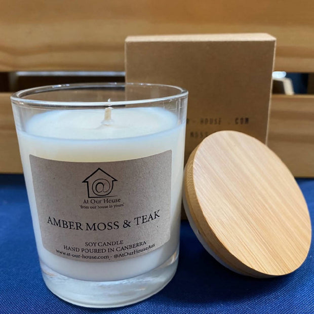 Amber Moss & Teak - Soy Candle