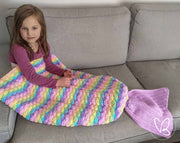 Pastel Rainbow Made to Order Mermaid Tail Blanket