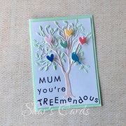 "Kids Mothers Day card, ""You're TREEmendous"""