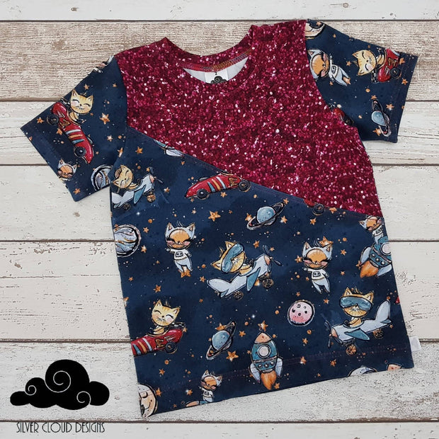 Spliced Tee - Space Kitties