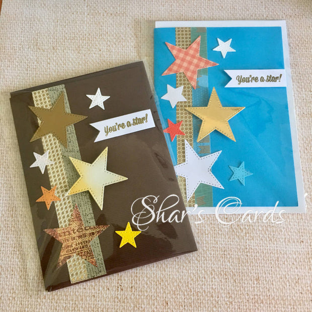 """You're a Star"" card, 2 pack"