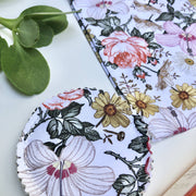 Natural Floral Reusable Cleansing Pads & Wash Bag Sets