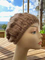 Ladies hand knit beret