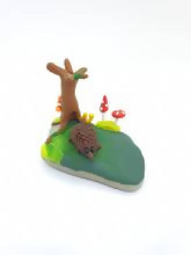 Miniature forest echidna sculpture collectable