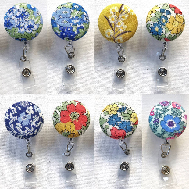 ID Badge Tag Reels - Floral collection