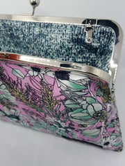 Wagtail Pink Sky Large Kisslock Clutch