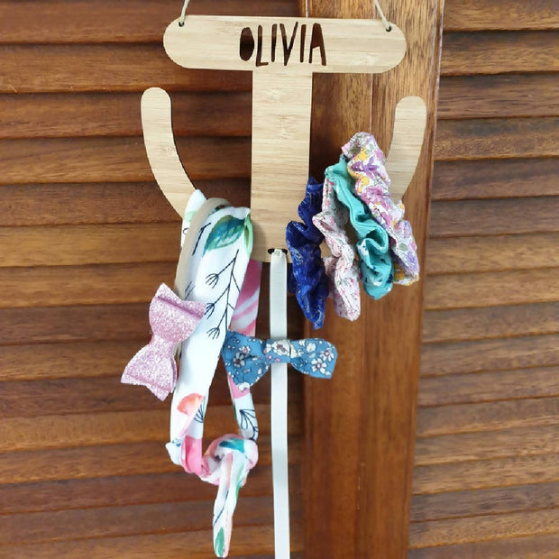 Personalised Scrunchie & Bow Holder