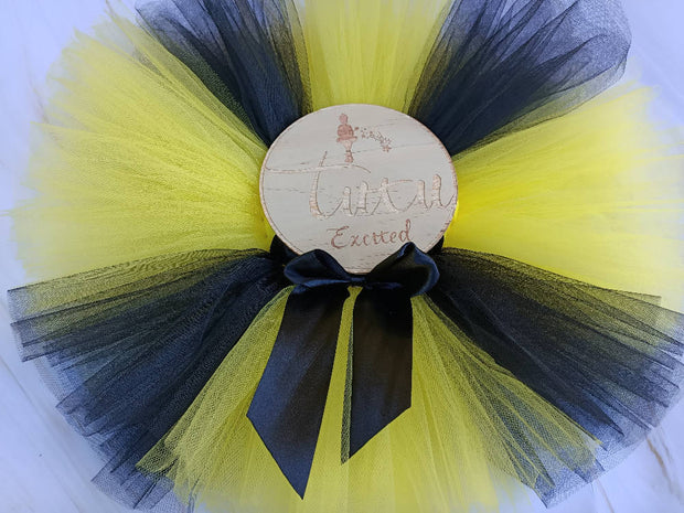 Yellow and Black Tutu - Size 0