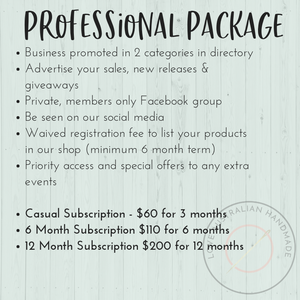 Professional Business Subscription Package