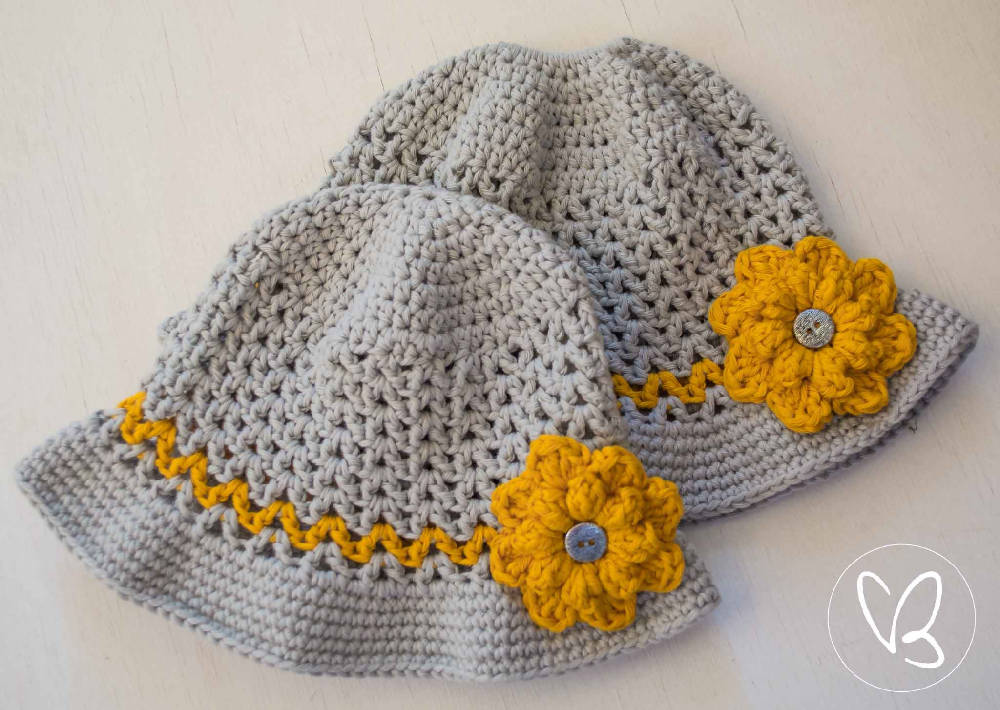 Custom Made Crochet Boys and Girls Sun Hat