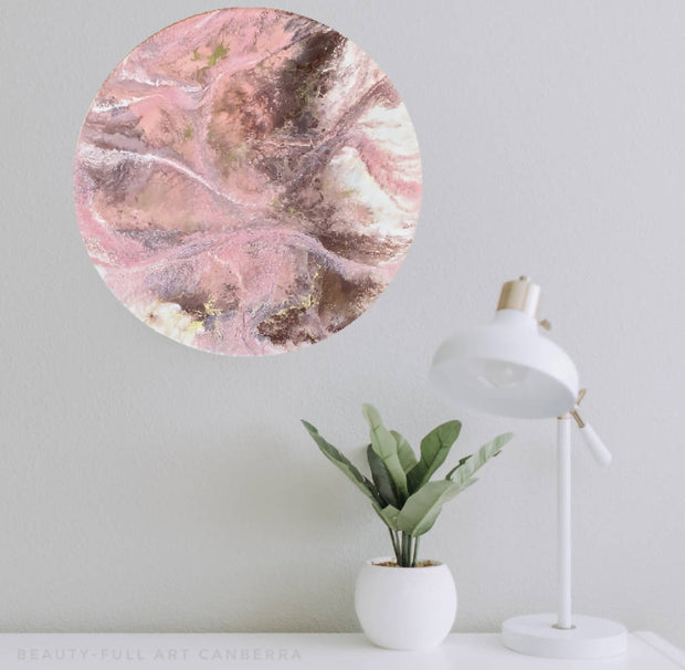 40cm ORIGINAL ABSTRACT RESIN WALL ART