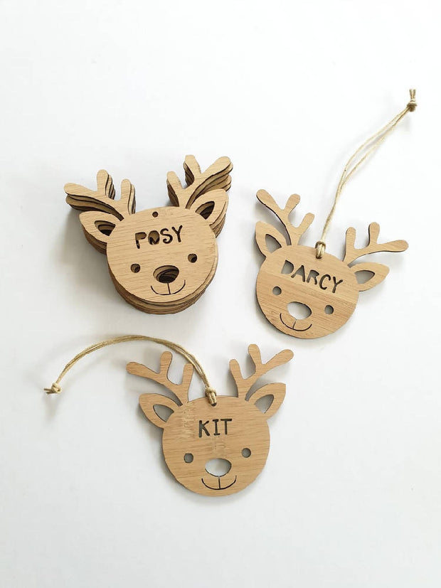 Christmas Ornament - Personalised Reindeer / Rudolph