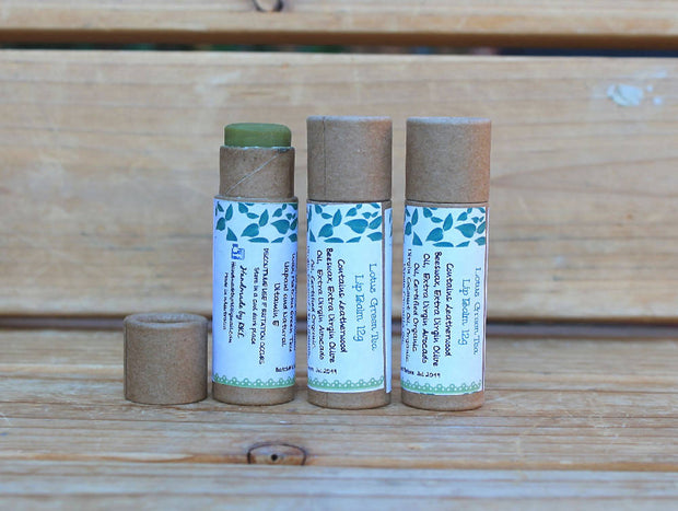 All Natural Lip Balm in eco friendly kraft tube 1 x 12g