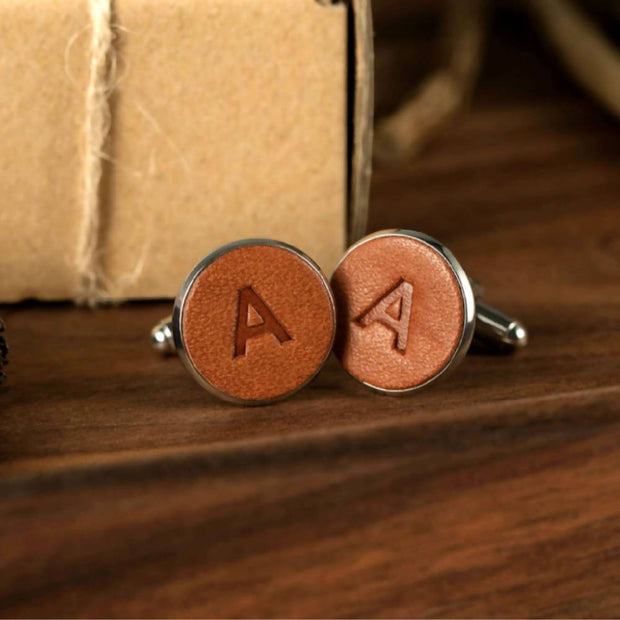 Personalised Leather Cufflinks (1 initial)