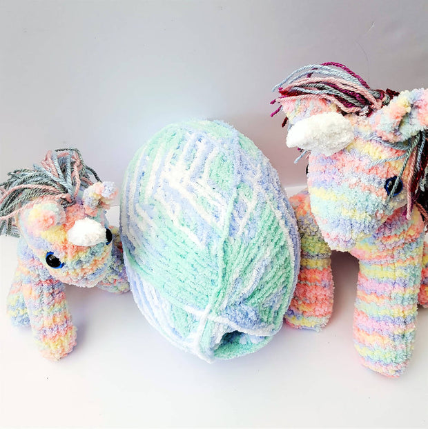 Knitted Rainbow Unicorn