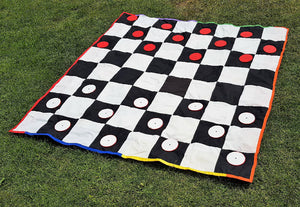 Outdoor Checkers Board Game