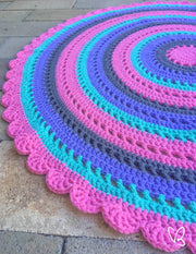 Made to Order Mandala Style Crochet Floor Rug
