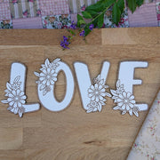 Cute wooden cut outs - Small Flower Alphabet Letters