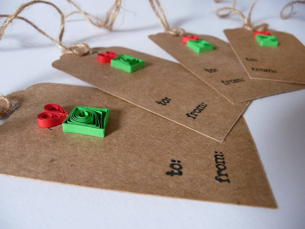 Quilled Christmas Gift Tags