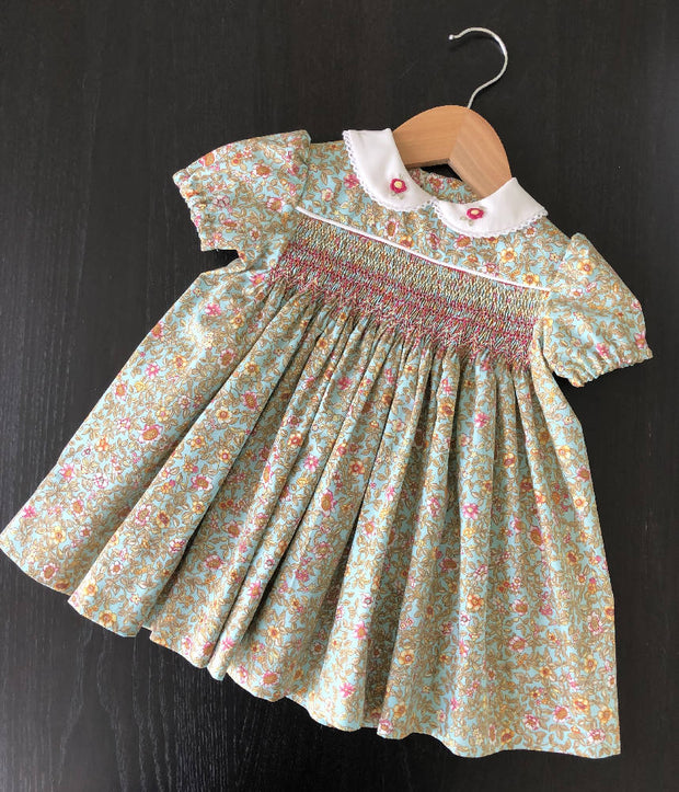 Floral Smocked Dress - one only - size 6 months