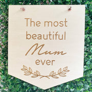 Timber mum wall hanging / Mother's Day gift