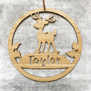 Reindeer hoop name plaque