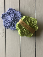 Crochet Cotton Scrubbies- Pack of 4