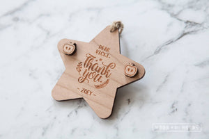 Teacher Earrings and Personalised Ornament Combo