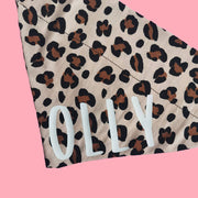 Personalised Leopard Print Dog Bandana