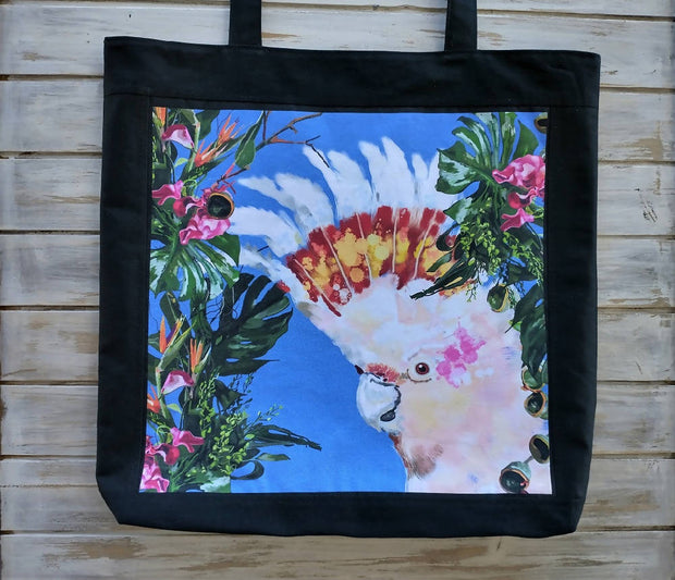 "Tote Bag ""Cheeky Cockatoo"""