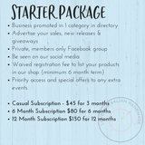Starter Business Subscription Package