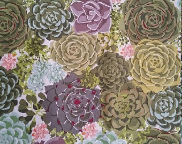Celebration of succulents - Tea Towel